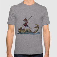 Saint George and the Dragon Mens Fitted Tee Athletic Grey SMALL