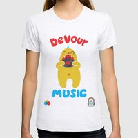 Devour Music Womens Fitted Tee Ash Grey SMALL