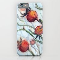 Rose Hips Abstract Watercolor iPhone 6 Slim Case