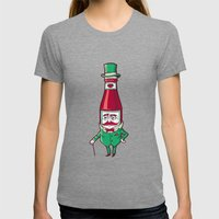 Sir Fancy Ketchup Womens Fitted Tee Tri-Grey SMALL