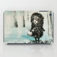 Hedgehog in the fog iPad Case
