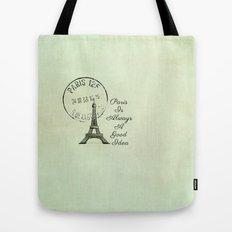 White Paris is Always a Good Idea Audrey Hepburn  Tote Bag