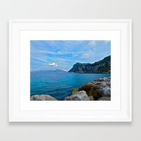 Sorrento: Amalfi Coast, Italy Framed Art Print