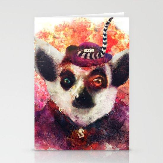Lemur ( The Pimp Le-Mur ) Stationery Card