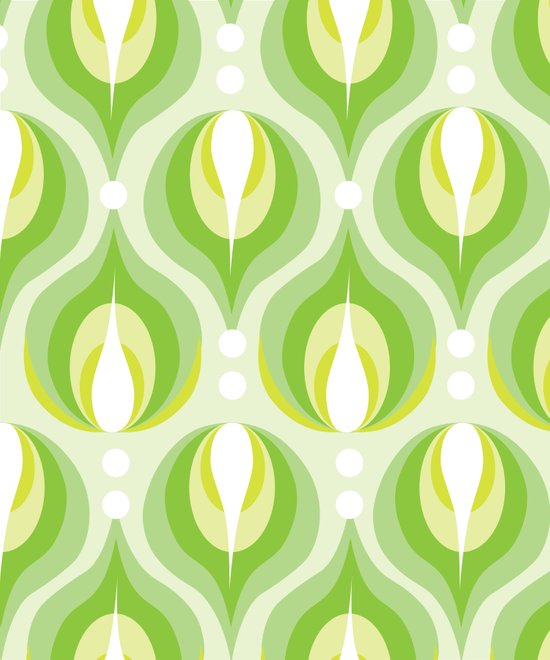 Green Dew Drops Art Print