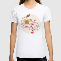 Apple of My Eye Womens Fitted Tee Ash Grey SMALL