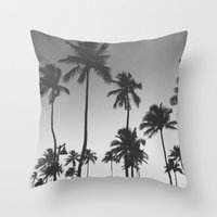 Throw Pillow featuring Palm Trees II by Whitney Retter