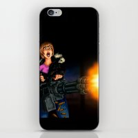 gatling girl iPhone & iPod Skin