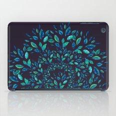 Blue Leaves Mandala iPad Case