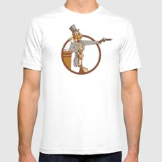 The Windup Duelist Mens Fitted Tee SMALL White