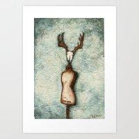 DressForm Deer #3 Art Print