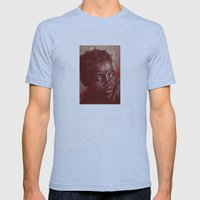 think about africa! Mens Fitted Tee Athletic Blue SMALL