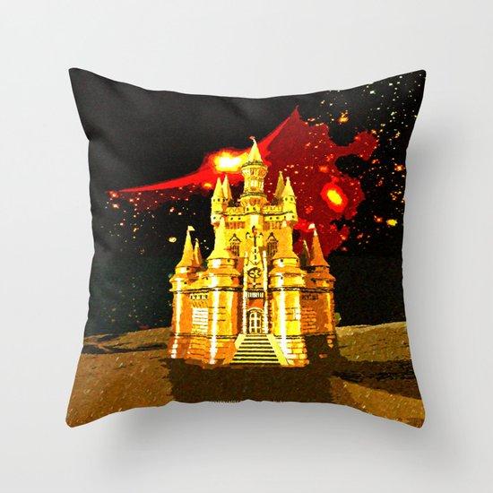 GOLDEN CASTLE-005 Throw Pillow