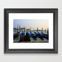 Gondola Parking Framed Art Print