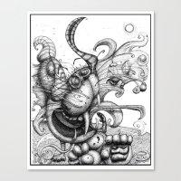 Cat Scratch Fever Canvas Print