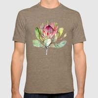 Protea Flower Mens Fitted Tee Tri-Coffee SMALL