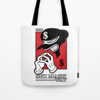 Tote Bag featuring The Ski Mask Way by Sheep-n-Wolves Clothing