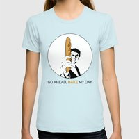 Go ahead, bake my day II Womens Fitted Tee Light Blue SMALL