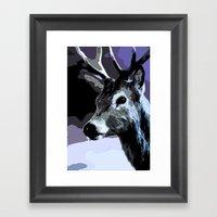 Midnight Stag Framed Art Print