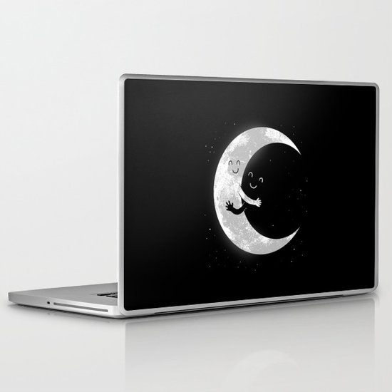 Moon Hug Laptop & iPad Skin