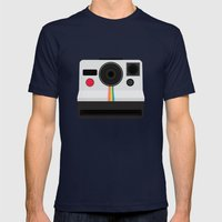 Polaroid One Step Land Camera Mens Fitted Tee Navy SMALL
