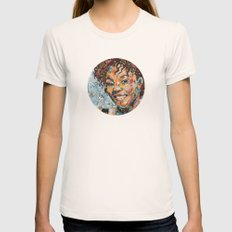 African woman Womens Fitted Tee Natural SMALL