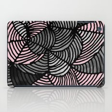 Abstract Pattern - Gray & Pink iPad Case