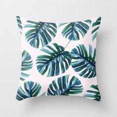 Monstera Pattern #society6 #decor #buyart Throw Pillow