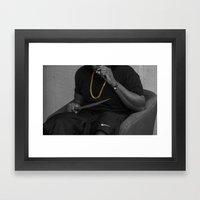 blvvk&gold. Framed Art Print