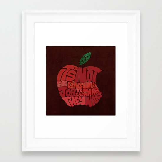 Steve Jobs on Consumers Framed Art Print