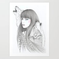 White Feather Art Print