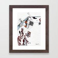 Skater Girl - Part One -… Framed Art Print