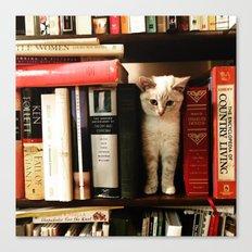 Scarlett the Bookworm Canvas Print