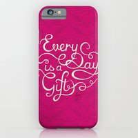 iPhone & iPod Case featuring Every Day is a Gift I by Junoon Designs
