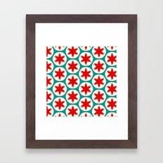 Retro Red Stars II Framed Art Print