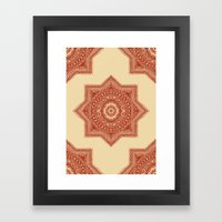 The Red Moroccan Pattern Framed Art Print