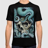 Please my love, don't die so far from the sea... Mens Fitted Tee Black SMALL