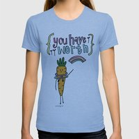 Worthy YOU. Womens Fitted Tee Athletic Blue SMALL