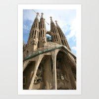 Work in Progress (La Sagrada Familia) Art Print