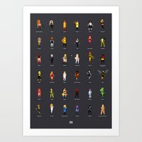 36 Supergirls Art Print