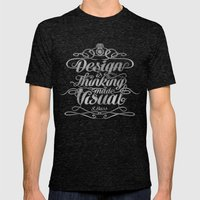 Design Is.... Mens Fitted Tee Tri-Black SMALL
