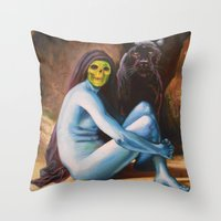Seated Sorcerer Throw Pillow
