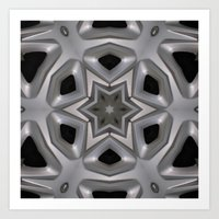 Abstract kaleidoscope of a wheel cover Art Print