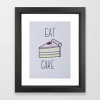 Eat Cake Framed Art Print