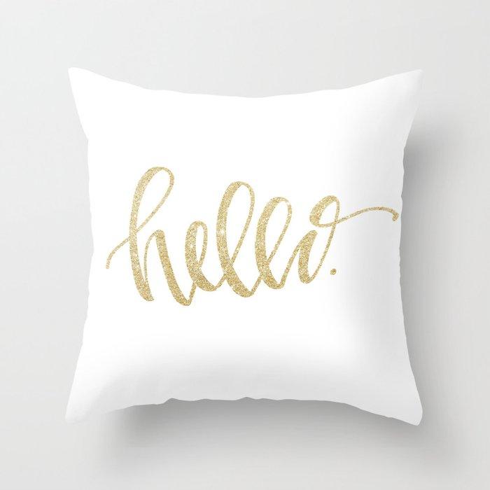 Gold Sparkle Throw Pillow :