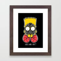 Guess Who Am I Framed Art Print