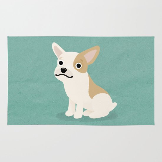 Frenchie - Cute Dog Series Area & Throw Rug