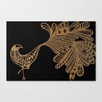 Golden Bird #4 Canvas Print