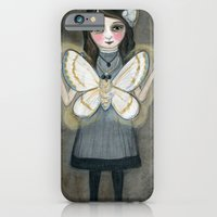 iPhone & iPod Case featuring The Moth Girl by Debra Styer