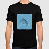 hammer shark Mens Fitted Tee Black SMALL